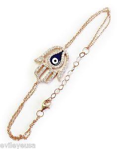 【送料無料】ブレスレット アクセサリ― ブレスレットファッションジュエリー#sterling silver hamsa hand evil eye bracelet womens fashion jewelry 9054