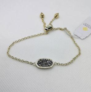 【送料無料】ブレスレット アクセサリ― スコットプラチナゴールドチェーンブレスレットnwt kendra scott elaina adjustable chain bracelet in platinum drusy gold
