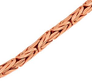 【送料無料】ブレスレット アクセサリ― ビザンチンチェーンローズゴールドbraceletround byzantine chain 18ct rose gold doubl or plated men women jewelry