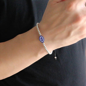 【送料無料】ブレスレット アクセサリ― スターリングシルバートルコブレスレットプロテクタ925 sterling silver turkish evil eye bracelet man woman protector gift jewelry