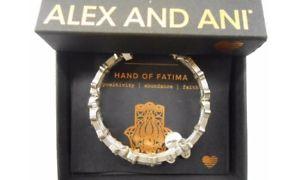 【送料無料】ブレスレット アクセサリ― アレックスファティマブレスレットラファエリアンラップalex and ani hand of fatima wrap bracelet rafaelian silver nwtbc fall 2017