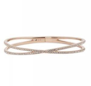 【送料無料】ブレスレット アクセサリ― ローズゴールドヒンジクロスブレスレット listingnadri pav hinge crossover bracelet in rose gold