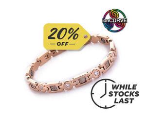 【送料無料】ブレスレット アクセサリ― ioncurve blush magneticnegative ion bracelet for ladies 195cm75 free ppioncurve blush magnetic negative ion bracelet for
