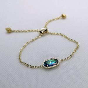 【送料無料】ブレスレット アクセサリ― スコットアワビシェルゴールドチェーンブレスレットnwt kendra scott elaina adjustable chain bracelet in abalone shell gold