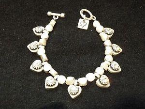 【送料無料】ブレスレット アクセサリ― マットotazuスワロフスキーgorgeous mat silver plated otazu swarovski crystals heart charm bracelet ex dis