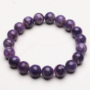 【送料無料】ブレスレット アクセサリ― クリスタルビーズブレスレットストレッチ104mm natural purple charoite crystal gemstone stretch beads bracelet zlbb045