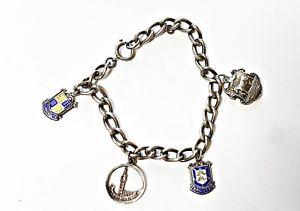【送料無料】ブレスレット アクセサリ― ビンテージスターリングシルバービッグベンブライトンボーンマスチェーンブレスレットvintage sterling silver ag 925 big ben brighton bournemouth chain bracelet