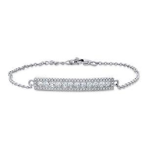 【送料無料】ブレスレット アクセサリ― berricleスターリングczリンクブレスレットberricle sterling silver cz bar fashion link bracelet
