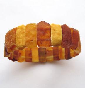 【送料無料】ブレスレット アクセサリ― バルトブレスレットraw baltic amber elastic bracelet 75