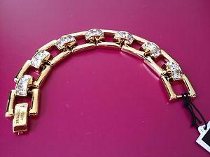 【送料無料】ブレスレット アクセサリ― クチュールラインストーンブレスレットjuicy couture rhinestone gold bracelet
