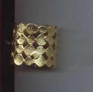 【送料無料】ブレスレット アクセサリ― ケネスレーンワイドゴールドブレスレットkenneth lane wide gold bracelet