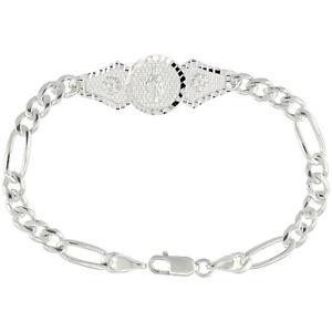【送料無料】ブレスレット アクセサリ― ステンレススターリングシルバーリンクフィガロブレスレット178cm stainless sterling silver link figaro bracelet judas