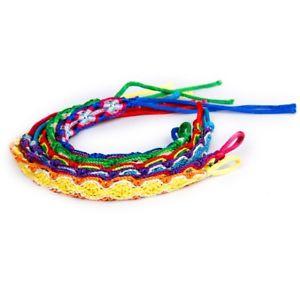 【送料無料】ブレスレット アクセサリ― ××カラフルブレスレットスレッドブレスレット20x6x colorful braided friendship bracelets thread wrist ankle bracelet t4 f gz