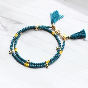 【送料無料】ブレスレット アクセサリ― シャーシーイライザ コガモshashi eliza crystal bracelet teal