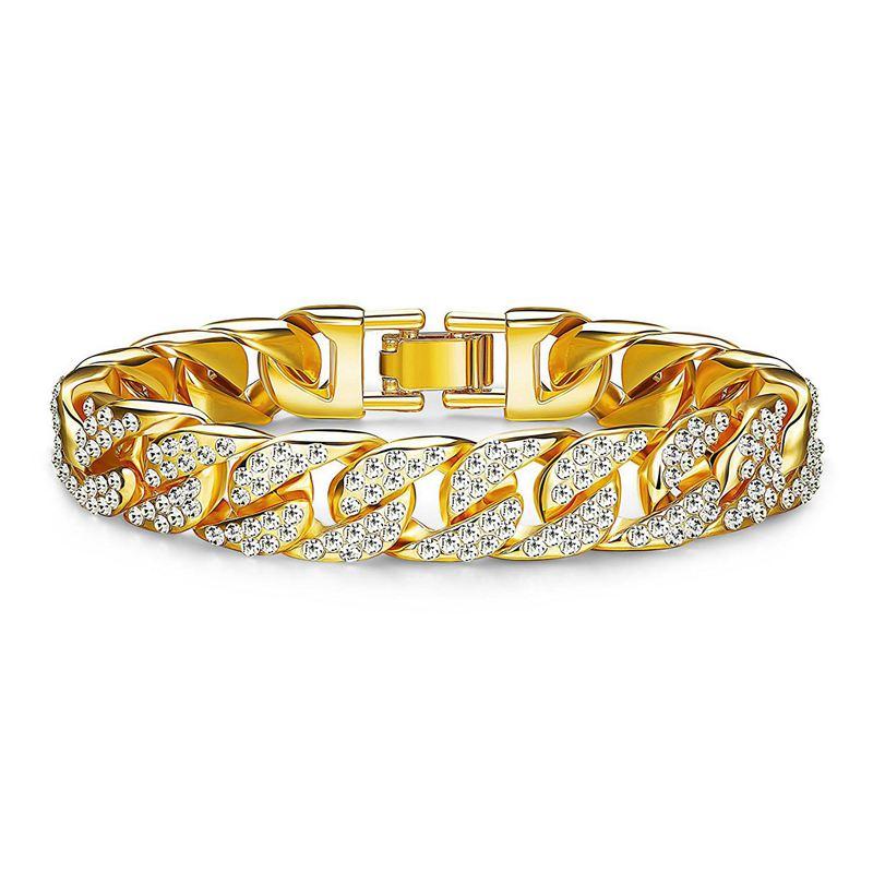 【送料無料】ブレスレット アクセサリ― ファッションラインストーンブレスレットヒップホップリンクチェーンブレスレットチェーン10xfashion rhinestone bracelet hip hop bling link chain bracelet chain amp; i1v7