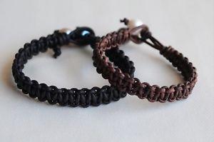 【送料無料】ブレスレット アクセサリ― 2バレンタインデーyevgaブレスレットセットfor her for him pearl leather bracelet set of two valentines day gift yevga