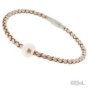 【送料無料】ブレスレット アクセサリ― レディースパールブレスレットバッグwomens pearl leather bracelet with a freshwater pearl stone gift bag 19cm