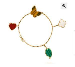 【送料無料】ブレスレット アクセサリ― クローバーブレスレットスターリングシルバーclover bracelet sterling silver 925 18k gold plated butterfly mother of pearl