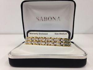 【送料無料】ブレスレット アクセサリ― sabona32670デュエットブレスレットsabona 32670 executive regal duet magnetic bracelet