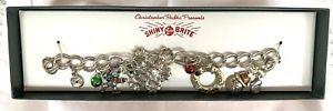 【送料無料】ブレスレット アクセサリ― ヴィンテージクリストファービンテージクリスマスツリーブレスレットnib vintage christopher radko vintage christmas tree charm bracelet 6 12
