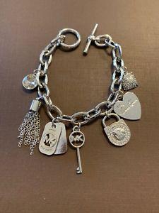 【送料無料】ブレスレット アクセサリ― listingmichaelコースlogoチェーンリンクブレスレット195mkj1308040 listingmichael kors charm pave logo chain link bracelet retails 195 mkj13