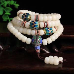 【送料無料】ブレスレット アクセサリ― チベットブレスレットtibetan white jade 108 buddhist rosary bracelets