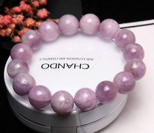 【送料無料】ブレスレット アクセサリ― 13mmクンツァイトブレスレットaaa13mm genuine natural purple kunzite crystal round beads bracelet aaa