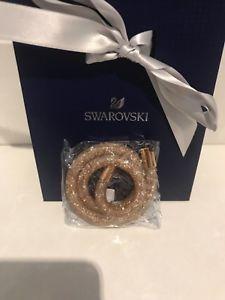 【送料無料】ブレスレット アクセサリ― スワロフスキーローズゴールドスターダストダブルラップブレスレット100 authentic swarovski rose gold stardust double wrap bracelet bn