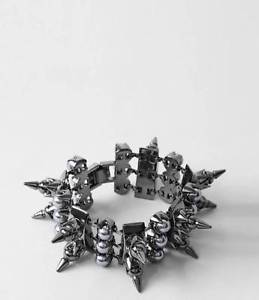 【送料無料】ブレスレット アクセサリ― ¥パールドレクセルカフブレスレットヘマタイトbnwt 118 all saints drexel chunky cuff bracelet in pearl amp; hematite finish