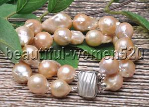 【送料無料】ブレスレット アクセサリ― z74472strdsピンクバロックkeshipearlブレスレット820mmz7447 charming 2strds 20mm pink baroque drop keshi reborn pearl bracelet 8inch