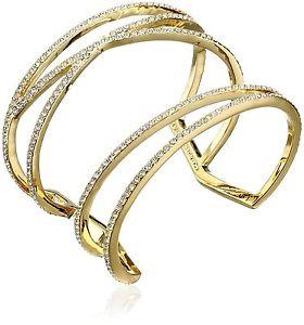 【送料無料】ブレスレット アクセサリ― ドルビンスオープンクリスタルカフブレスレット128 vince camuto open pave crystal cuff bracelet