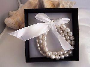 【送料無料】ブレスレット アクセサリ― ストレッチブレスレットパールセットhonora cultured ringed pearl set of 3 stretch bracelets smallaverage