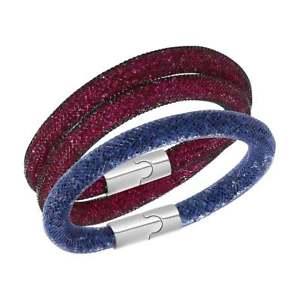 【送料無料】ブレスレット アクセサリ― スワロフスキースターダストダブルラップブレスレットセットswarovski 5102847 womens stardust double wrap bracelet set, medium