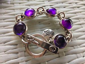 【送料無料】ブレスレット アクセサリ― スペインデザインシルバーパープルボールブレスレットbrand ciclon spain jewelry exclusive design silver purple balls bracelet