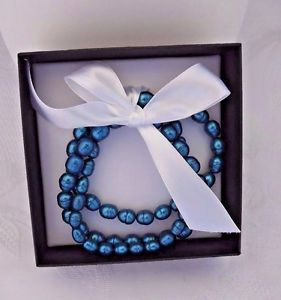 【送料無料】ブレスレット アクセサリ― ストレッチブレスレットパールセットhonora cultured ringed pearl set of 3 stretch bracelets average large