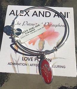 【送料無料】ブレスレット アクセサリ― アレックスラブポーションカーネーションブレスレットalex and ani love potion carnation charm shiny silver january bracelet nwt