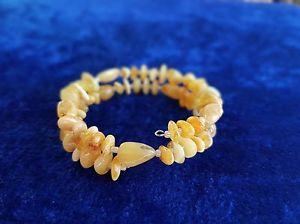 【送料無料】ブレスレット アクセサリ― ナチュラルオレンジワイヤビーズブレスレット100 natural baltic amber yellow wire beads bracelet handcrafted