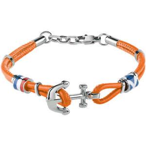 【送料無料】ブレスレット アクセサリ― ジュエリーブレスレットセーリングレザーオレンジbliss jewelry, bracelet sailing leather orange and still 20073836