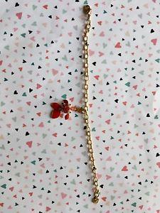 【送料無料】ブレスレット アクセサリ― ゴールドスワロフスキーペンダントブレスレットgold swarovski bracelet with fish pendant