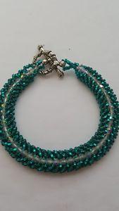 【送料無料】ブレスレット アクセサリ― ブレスレットガラスシードビーズhand made bracelet, with swarovsky crystals and glass seed beads toho