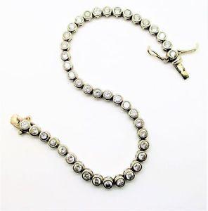 【送料無料】ブレスレット アクセサリ― スターリングシルバーテニスブレスレットラウンド925 sterling silver tennis bracelet with round cz 7