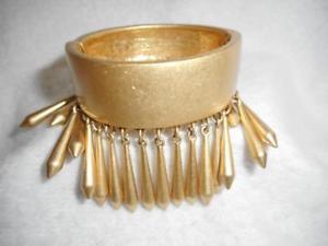 【送料無料】ブレスレット アクセサリ― ソフィアゴールドトーンクランパブレスレットゴールドビーズrare lia sophia brushed gold tone 34 clamper bracelet w 1 dangle gold beads