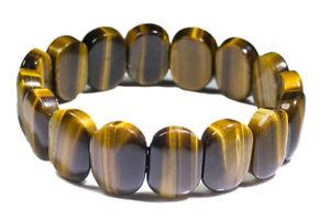 【送料無料】ブレスレット アクセサリ― タイガーアイブレスレットtiger eye bracelet carved stone 18mm x 13mm