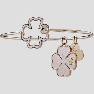 【送料無料】ブレスレット アクセサリ― ブリスブレスレットブロンズローズクローバーbliss, bracelet glittermania in bronze rose , clover 20081447