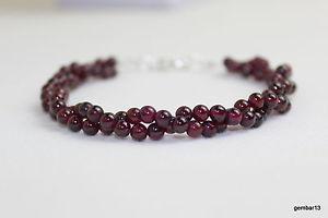 【送料無料】ブレスレット アクセサリ― ガーネットブレスレットmmレッドガーネットビーズツイストマルチストランドブレスレット4mm garnet bracelet 4 mm red garnet beads twisted multi strand bracelet genuine