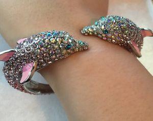 【送料無料】ブレスレット アクセサリ― ジョンソンオーシャンドライブクリスタルドルフィンブレスレットbetsey johnson ocean drive crystal dolphin bracelet nwot