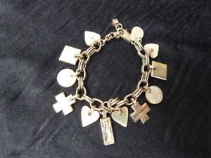 【送料無料】ブレスレット アクセサリ― シルバーパールクリスタルデザイナーブレスレットトーンチェーンdyrberg kern silver tone chain mother of pearl charms crystal designer bracelet