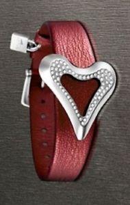 【送料無料】ブレスレット アクセサリ― スチールガーネットシルバーロータスブレスレットsilver lotus bracelet in steel and leather color garnet with little zircons 17 to 20 cm