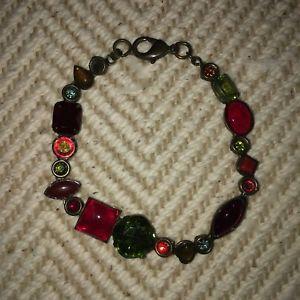 【送料無料】ブレスレット アクセサリ― ブレスレットsorrelli ruby multicolored crystal bracelet