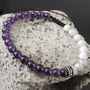 【送料無料】ブレスレット アクセサリ― アメジストブレスレットシルバークロスamethyst compassion amp; braided adjustable white turqunite bracelet silver cross 896
